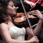 during the performance of the Mendelssohn Violin Concerto