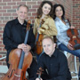 with students during the Five Seasons Chamber Music Festival
